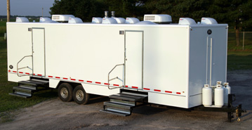 Luxury restroom trailer rentals in MA, RI, CT and NH.