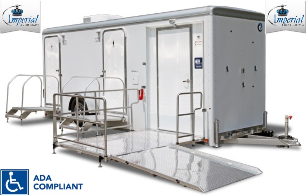 North Miami ADA Compliant Handicap Accessible Bathroom Trailer Rentals in North Miami, Florida.