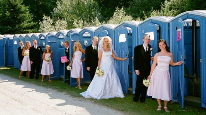Luxury Wedding Restroom Trailer Rentals in Lowell, Massachusetts.