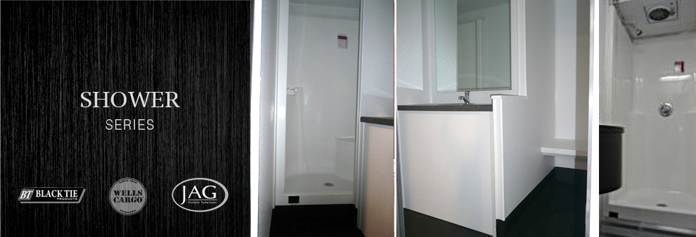 Long Term Restroom Trailer Rentals with Shower Stall in Lowell, Massachusetts.