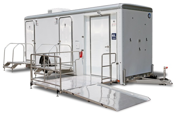 Restroom Trailer Rental For Wheelchairs and Mobility Vehicles.