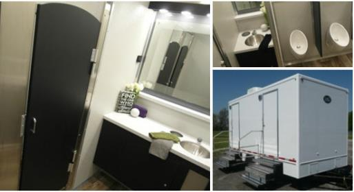 Daily, Weekly, Monthly and Long Term Bathroom Trailer Rentals.