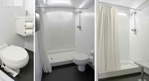 Wells Cargo Restroom & Shower Trailer Combo Unit for convenient sanitary services.