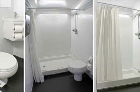 lowest prices for luxury shower trailer rentals on a daily weekly monthly and long - Mobile Bathroom