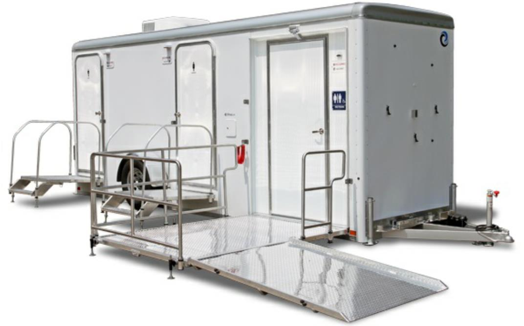 ADA Compliant Handicapped Bathroom & Shower Trailer Rentals for Large Events and Weddings in the state of Michigan (MI).