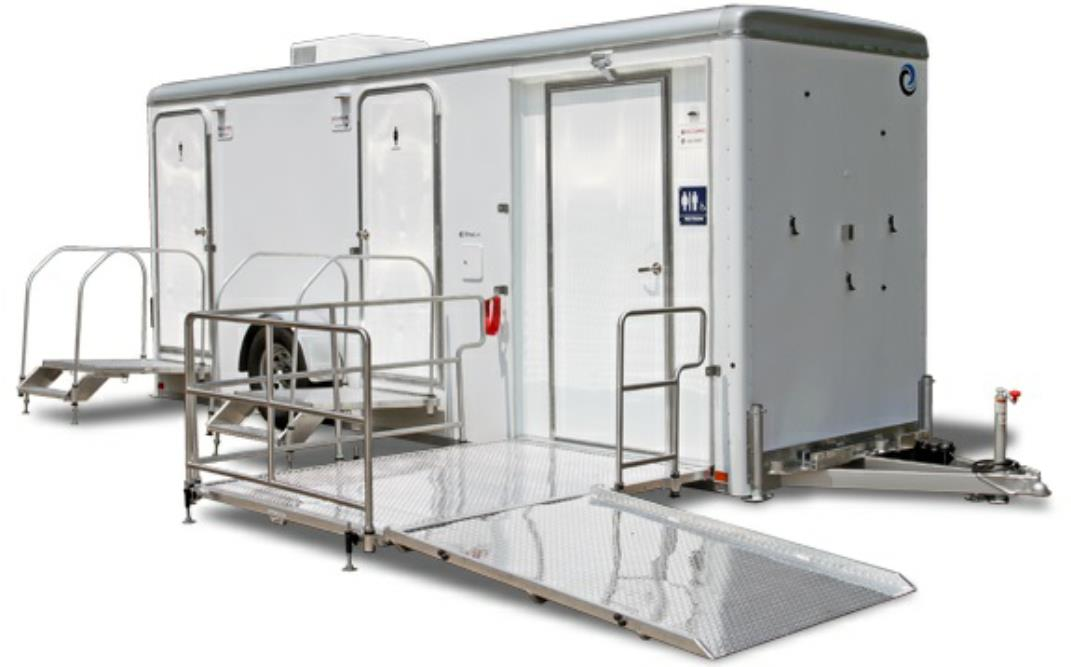 ADA Compliant Handicapped Bathroom & Shower Trailer Rentals for Large Events and Weddings in the state of Texas (TX).